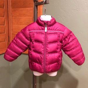 REI toddler girls down puff coat